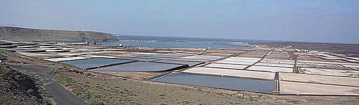 Salinas de Janubio, zout winning vanuit de zee door verdamping
