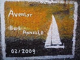 muurschildering van de Aventyr