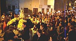 Candelaria processie in Gran tarajal