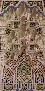 Mooi gipswerk in Museum van Marrakech