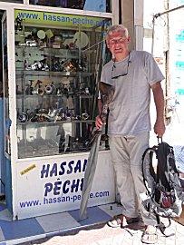 jarige Erik met speergun, Cressi Sioux 75cm , bij Hassan peche