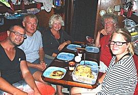 Pannekoeken aan boord van de Kauri