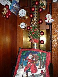 Kerstversiering aan boord van de Gabber