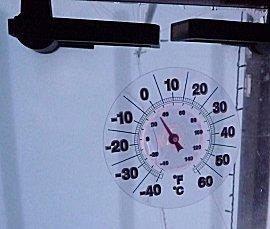 De temperature waren rond het vriespunt