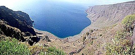 mirador Isora, vanaf 1100 meter uitzicht op Las Playas