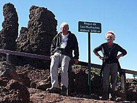 Erik en Ernie bij Roque de los Muchachos, 2434m