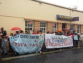 Demonstratie in Valverde