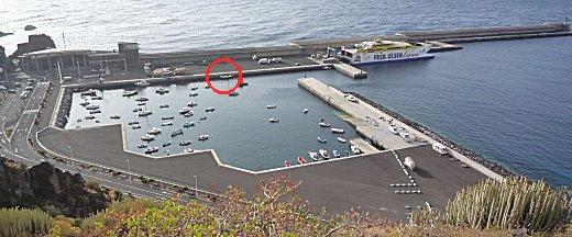 Gabber in de haven van La Estaca op El Hierro