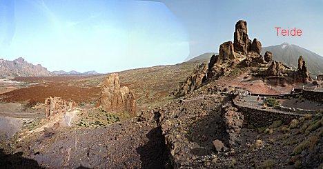 Rotsformaties bij de Teide