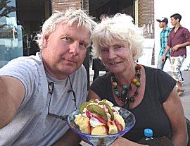 Ijsje eten bij venezia in Agadir