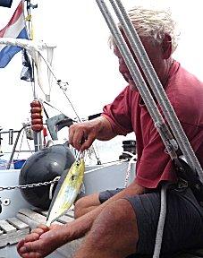 Erik vangt deze keer de vissen