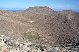Oude vulkaan kraters op Graciosa