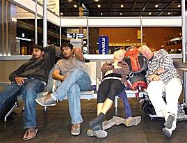 Nachtje hangen in Charleroi vliegveld, inchecken om 04:30 uur