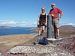 Op de top van een andere oude vulkaan in Graciosa