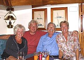 Etentje aan boord van de Wildeman met Frederik en Steffi