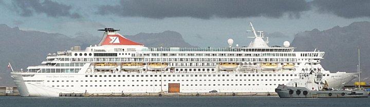Cruise schip Bolmoral bezoekt Mindelo
