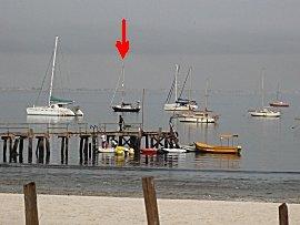 Vele franse schepen liggen voor anker bij CVD