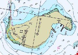 Het eiland Gore volgens CMAP