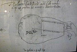 Het eiland Gore volgens Michiel de Ruyter