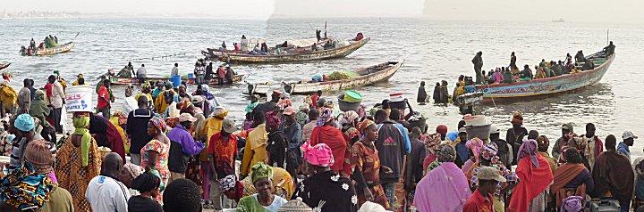 Hann fishing, Dakar, Senegal, landingsplaats voor de lokale vissers
