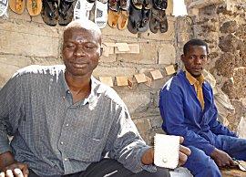 Leerbewerking, tegen over ministerie van economische zaken en douane in Rue Faidherbe, Dakar Senegal