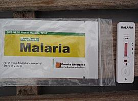 Eenvoudige zelftest op malaria, bloeddruppeltje en 15 minuten later weet je het