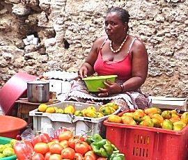 Straat verkoop in Mindelo