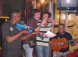 Live muziek bij Christina in het restaurant