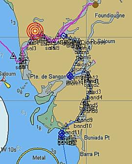 Saloum delta in OpenCPN
