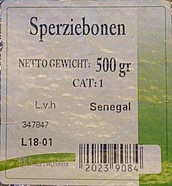 Sperziebonen uit Senegal in Nederland te koop