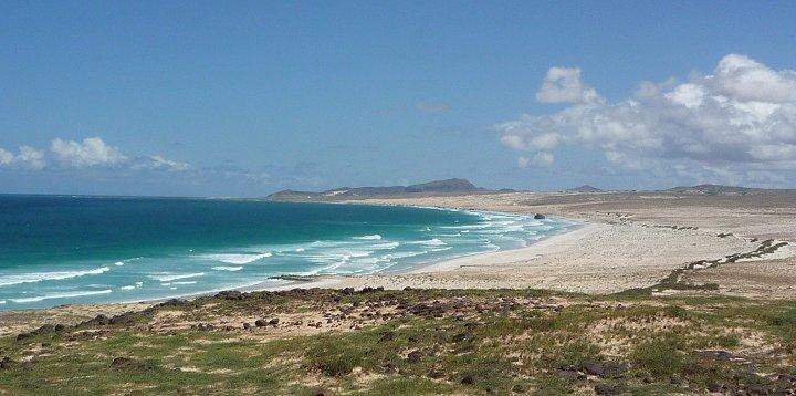 Praia St. Maria, noord kant van Boa Vista