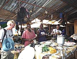 Vis en groente kan je op de markt laten malen