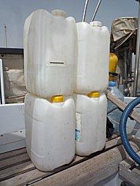 De inhoud van de watertank is goed voor 3,5 goedgevulde jerrycans van 20 liter
