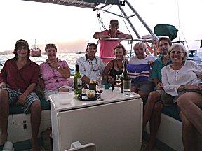 Westwardnet in Mindelo aan boord van Southern Cross