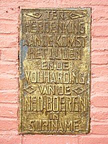 Monument voor de komst van de Nederlandse boeren.