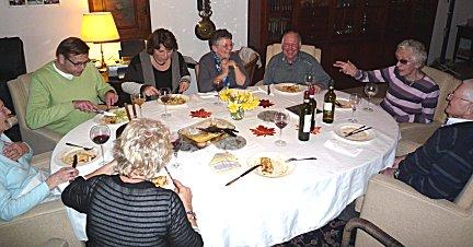 Etentje met tante Luus en familie