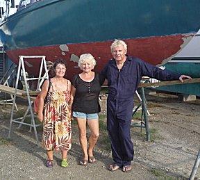 Regine van Freevol brengt de groeten van de bemanning van Contre temps.