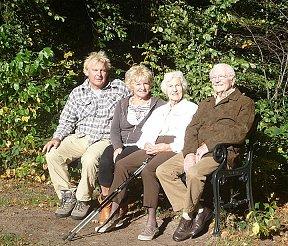 Herfst wandeling met Pa en Ma van Ernie.