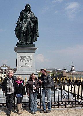 Met Marsha en Maarten van de Vidavagabunda in Vlissingen.