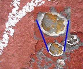 Zeepokken vreten zich door de epoxy tot op het staal.
