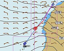 Onze route van Gran tarajal naar Sal, met een gribfile